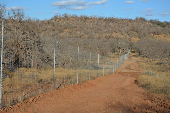 High fence line