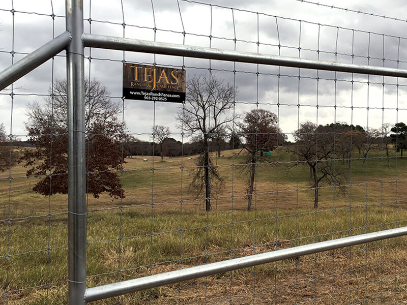 Tejas ranch fence