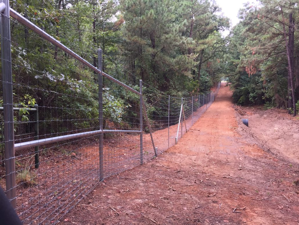 exclusion fencing for hogs