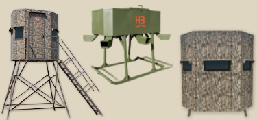 Deer blinds and feeders